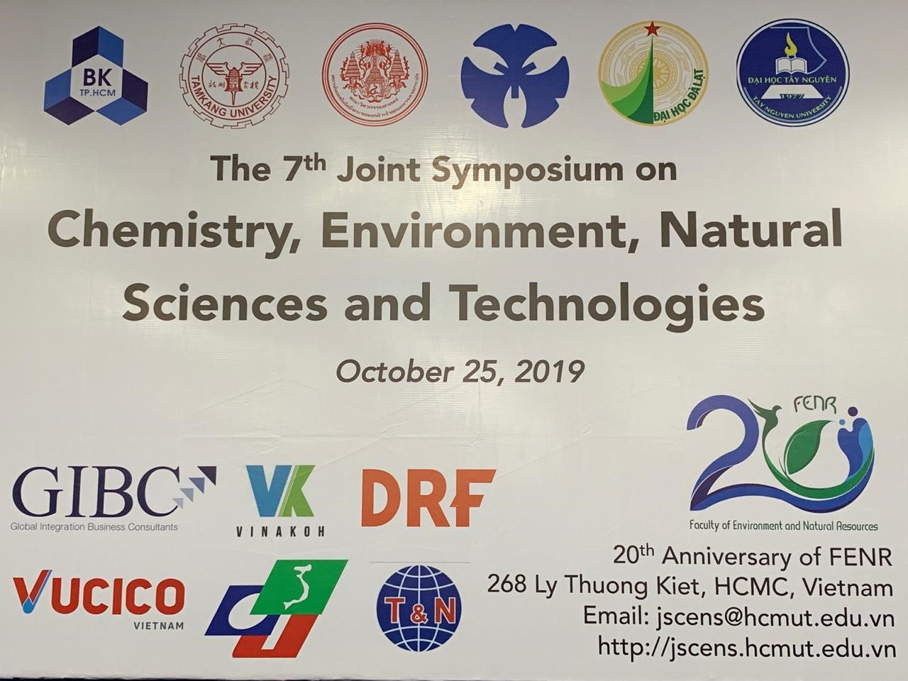 VUCICO JOINED, SPONSORED AND PRESENTED AT THE 7TH SEMINAR ON CHEMICAL, ENVIRONMENT, NATURAL SCIENCE AND TECHNOLOGY