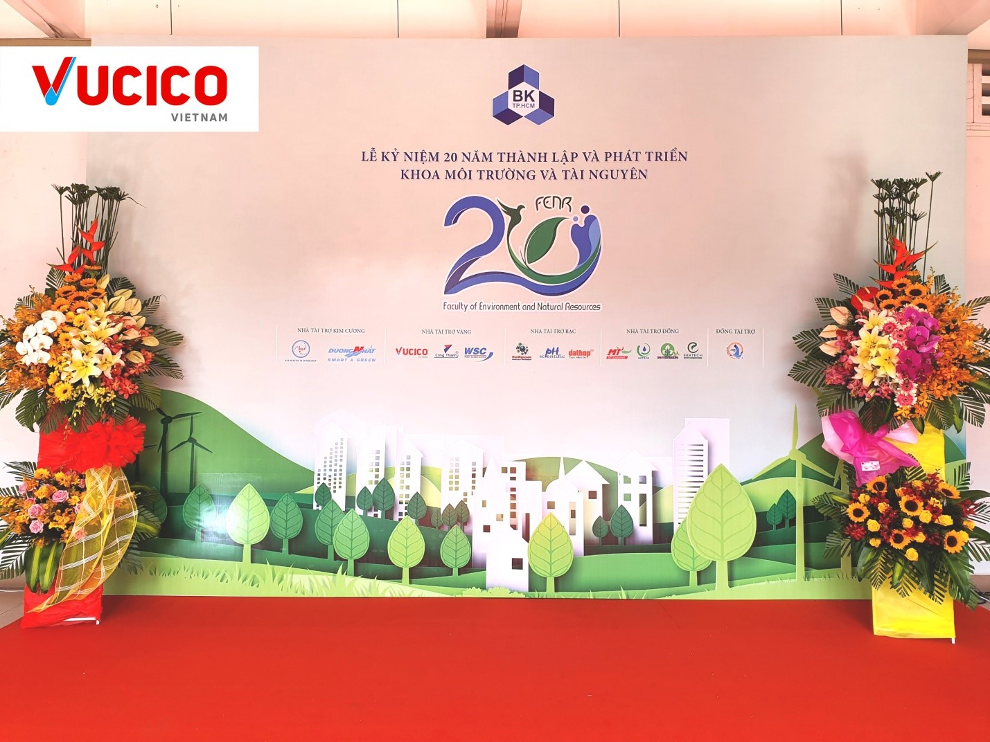 THE 20TH ANNIVERSARY OF THE FOUNDING OF THE DEPARTMENT OF ENVIRONMENT AND NATURAL RESOURCES OF THE HO CHI MINH CITY UNIVERSITY OF TECHNOLOGY
