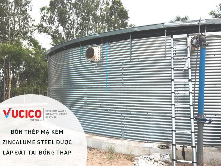 GAVALNIZED STEEL TANK SUPPLY AND INSTALLATION PROJECT IN DONG THAP