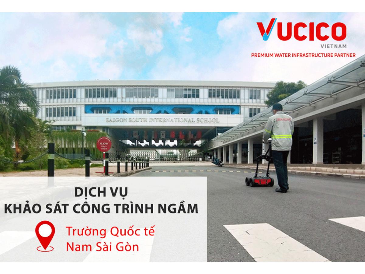 Khảo sát công trình ngầm tại trường Quốc tế Nam Sài Gòn (SSIS)